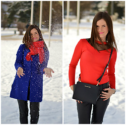 Fashionelja Ja -  - ROYAL BLUE & RED