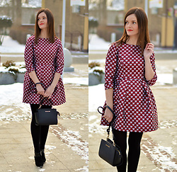 Fashionelja Ja -  - DRESS HEART PRINT