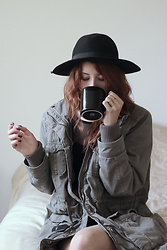 Mayra A. -  - Coffee and his jacket