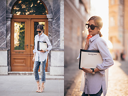 Tesa J. - Balenciaga Bag, Zara Shirt, Celine Sunglasses - Casual chic