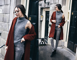 Bea G - Coat, Jeans, Boots, Knit - Rusty Mood