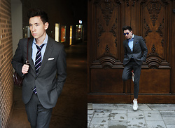 Frank Lin - Tommy Hilfiger Grey Suit, Tommy Hilfiger White Sneakers - Freedom of movement