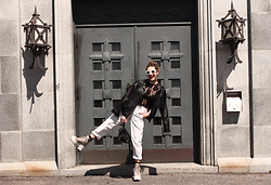 Solveig - Jeffrey Campbell Shoes Boots, Crapeyewear Sunnies - Spring days in MTL