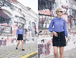 Borjana R. - H&M Skirt, Ray Ban Sunglasses - Suede skirt