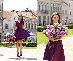 Ramona Crisstea - Dress - Little purple dress