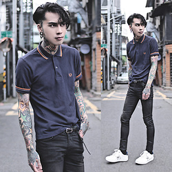 IVAN Chang - Fred Perry Polo Shirt, Asos Jeans, Fred Perry Shoes - 250416 TODAY STYLE
