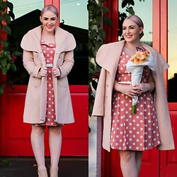 Ashleigh McCallum - Review Delphi Coat, Review Tuscan Spot Dress, Wittner Alice Heels - How To Look European Chic
