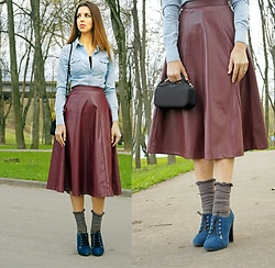 Eva Adotik -  - Eco-leather skirt