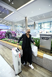 INWON LEE - Byther Black Boeing Sunglasses, Byther Black Blazer Jacket, Byther Black Avant Garde Wide Baggy Pants - Back To My Home Country Safe!