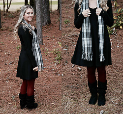 Jennifer Therese - Express Long Sleeve Dress, Steve Madden Slouchy Boots, Target Merona Tights - Woodlands.