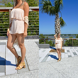 Jennifer Therese - Tobi Rumble Romper, Steve Madden Wedge Sandal, Pacsun Lace Kimono - Ready to Rumble.