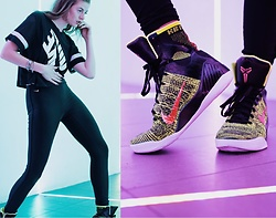 Ms. Morgan Ryan - Nike Mesh Crop, Nike High Waisted Sport Leggings, Nike Kobe Ix 9 - || E L I T E ||