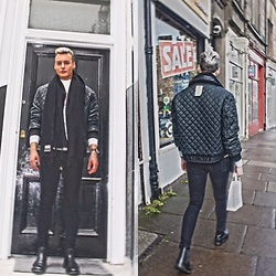 Bambi Borg - Acne Studios Scarf, Vintage Jacket, Cheap Monday Jeans, Loake Leather Boots - Edinburgh