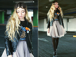 ♡Anita Kurkach♡ - Chic Wish Skirt, Sheinside Jacket, Romwe Sweatshirt - Grunge Princess.