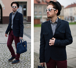 Daro K. - Topman Jacket, Tailor4less Shirt, Giant Vintage Sunglasses, Pierre Cardin Shoes - Formal look