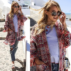 Leonie Hanne -  - Stripes & Fringes | Santorini