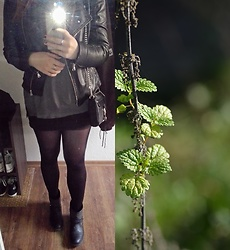 Tine Respirencore - Rebecca Minkoff Mini Mac, Zara Pleather Jacket, Black Boots - My outfit isn't colorful...