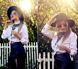 Joicy Muniz - H&M Hat, Dresslink Sunnies, Urban Outfitters Necklace, I Made It Shirt, Style Moi Skirt - Boho Spring