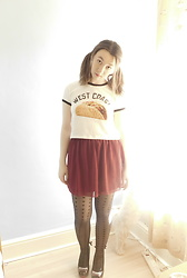 Louise Jay - Forever 21 West Coast Taco Crop, Missguided Maroon Skirt, Iron Fist Clothing Wolfbeater Heels - West Coast Taco
