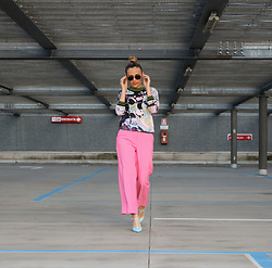 Eniwhere Fashion - Ted Baker Shirt, Zara Pink Pants, Zara Heels, Ray Ban Aviator - Pink pants