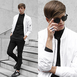 Georg Mallner - Zerouv Sunglasses, Ford And Harris Jewelry, Weekday Bomber Jacket, Cos Turtleneck, Adidas Superstars - May 06, 2016 / INSTAGRAM: GEORGXM