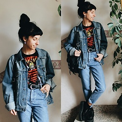 Vanessa Rossi - Lee Jacket, Emp T Shirt, Levi's® Jeans, Tuk Shoes - Denim On Denim