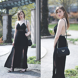 Becca L - Tobi Dusk Till Dawn Maxi Dress, Primark Shoes, Samantha Vega Sailor Moon Purse - Moon, Prism, Power