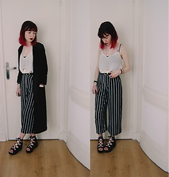 Lea B. - Bershka Pants, H&M Jacket - Striped Pants