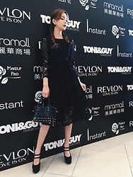 Una Yeung - Zalora Lace Black Dress, People By Studded Black Bags, Utopop Simple Earring, Forever 21 Black High Heels - BLACK GIRL