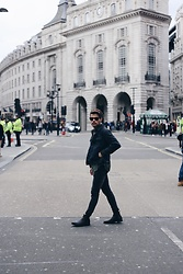 Kevin Elezaj - Selected Homme Chelsea's, Cheap Monday Jeans, Hazebury Jacket, Ray Ban Glasses - London walks