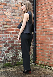 Angharad Jones - Solace London Top, Zara Trousers, Topshop Shoes - Cropped
