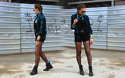 Sabina B - Stradivarius Flannel Shirt, H&M High Waisted Shorts, Stradivarius Combat Boots, Stradivarius Black Belt - Ghetto