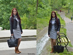 B-Andreia Daniela - Black Jacket, Bag, Boots - 9.05