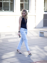 Lian G. - Missguided Top, Levi's® Jeans, Aldo Heels - Lacing it up