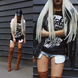 Eeva K. - Want My Look Over The Knee Boots - Boots on fire