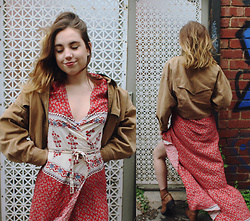 Isabella Wight - Stelly Clothing Dress, Vintage Jacket - Changing of the Seasons