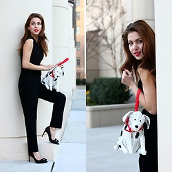 Beauty Mark Lady - Kate Spade Jumpsuit, Kate Spade Bag - BETTER THAN CRUELLA DE VIL