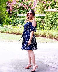 Alice Hernandez - Lc Lauren Conrad Polka Dot Dress, Ann Taylor Patent Bow Heels - The Little Things