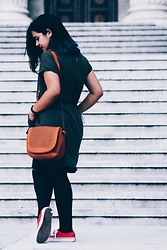 Cristiana Ancuta - H&M Dress, Vans, Sinsay Bag - Blue Haired Skater Girl