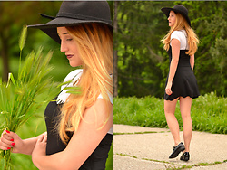 Martina Manolcheva - H&M Dress, Taily Weijl Hat, Shoes - Dress Over T-shirt