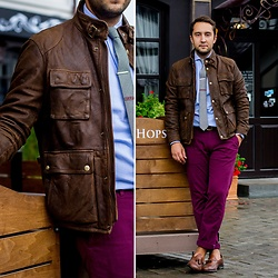 Ilya Trifonenkov - Massimo Dutti Outerwear, Massimo Dutti Trousers, Massimo Dutti Loafers, Mango Shirts, The Kravets Ties, Pelagys Bracelet, Mango Belts - MALT & HOPS