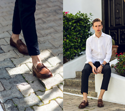 Oliver Lips - Pedro Horsebit Loafers, Jacques Britt Shirt - Classy in Loafers