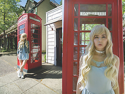 Lovely Blasphemy - Lockshop Wigs Mermaid Faerie, Snidel Dress, Vagabond Emma Lace Up - Waiting for your call