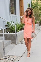 Amber Wilkerson -  - Stand Out In Carefree Coral Dress