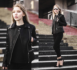 Margo Bryksina - Asos Jacket, Follow My Eyes T Shirt - Sleepless Lights
