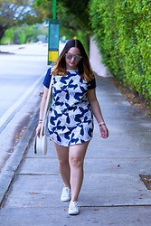 Alice Hernandez - Tobi Floral Dress, Lc Lauren Conrad Cutout Sneakers, Who What Wear White Crossbody, Zerouv Clear Sunnies - Casual Vibes