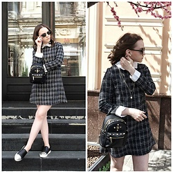 Alina Ermilova - Sheinside Collar Dress, Jolly Chic Mini Backpack, Jolly Chic Slip Ons - Life Lately: My Weekend
