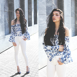 CLAUDIA Holynights - Ivyrevel Top, Sheinside Jeans, Dropp Shoes - White and navy