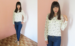 Sakuranko * - Newchic Casual Printed Shirt - Casual Printed Shirt