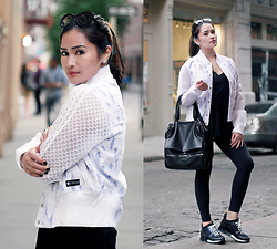 Raleene Cabrera - Louis Vuitton Run Away Sneaker, Givenchy Pandora Pure Bag, Adidas Varsity Jacket, Prada Sunglasses, Zara Belted Top, Lululemon Leggings - 052016